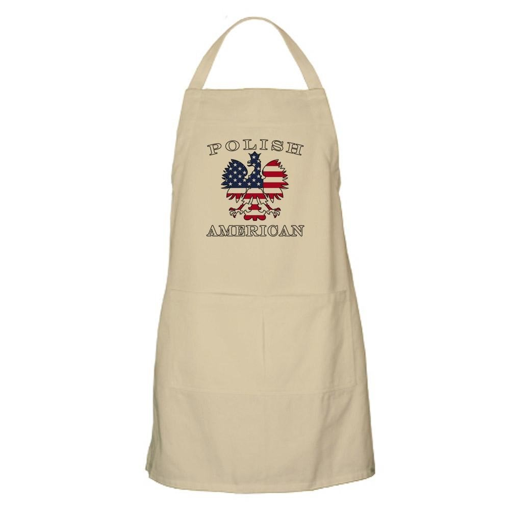 CafePress - Polish American Flag Eagle Apron - Kitchen Apron with Pockets