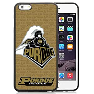 Fashionable And Unique Custom Designed With Ncaa Big Ten Conference Football Purdue Boilermakers 11 Protective Cell Phone Hardshell Cover Case For iPhone 6 Plus 5.5 Inch Black