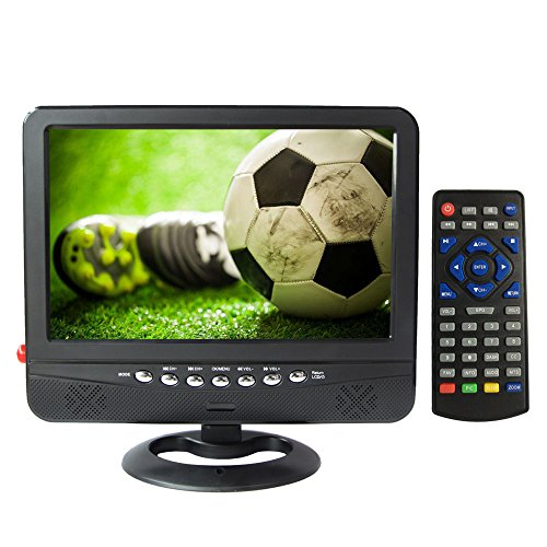 GJY 9-Inch Car Headrest Monitors,Car Video Player,Portable Widescreen TV,Built in Digital Tuner+NTSC,USB/TF Card Slot/Headphone Inputs,with Detachable Antennas,Full Function Remote,Removable Bracket