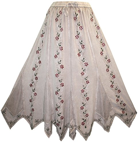 714 SK Agan Traders Bohemian Asymmetrical Rayon Netted Skirt