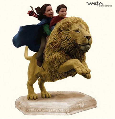 Weta Girls Riding On Aslan The Lion From The Lion, The Witch And The Wardrobe by Weta