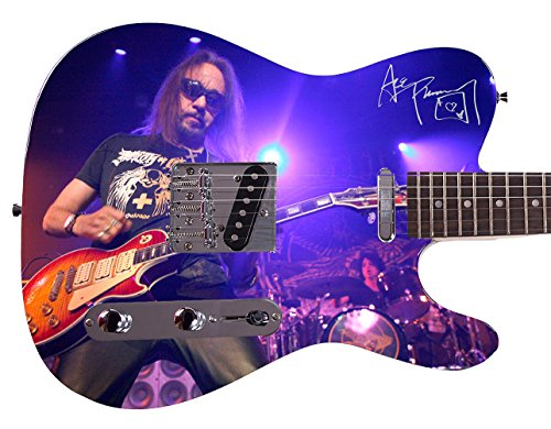 Kiss Ace Frehley Autographed Signed Custom Graphics Guitar