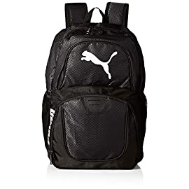 PUMA Men's Contender Backpack 9 Heat seal PUMA cat logo PUMA offers performance and sport-inspired lifestyle products in categories such as soccer, running, training, golf and more Pockets: 4 interior slip, 1 interior zip, 2 exterior