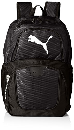 PUMA Men's Contender Backpack 1 Heat seal PUMA cat logo PUMA offers performance and sport-inspired lifestyle products in categories such as soccer, running, training, golf and more Pockets: 4 interior slip, 1 interior zip, 2 exterior