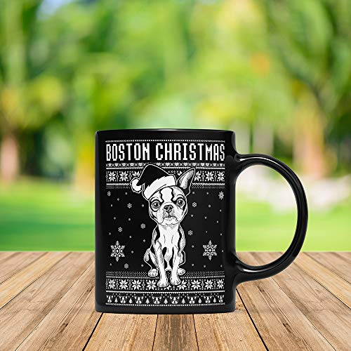 (Funny Ugly Boston Terrier Costume Chirstmas Mug, Christmas, Christmas Mug, Christmas Coffee Cup, Merry Christmas Cup, Xmas Mug, X-mas, Christmas Quote, Christmas)