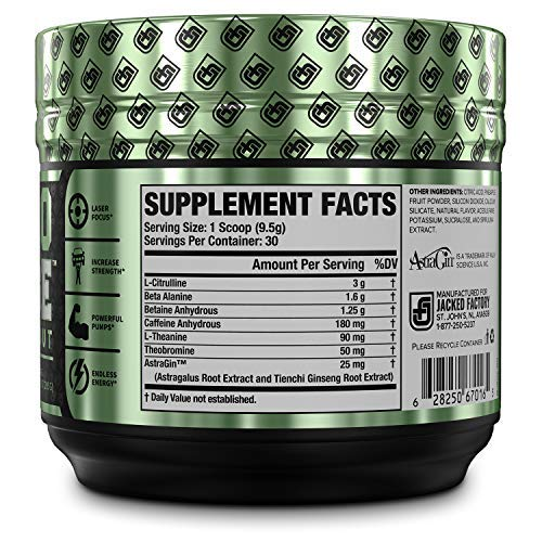 NITROSURGE Pre Workout Supplement - Endless Energy, Instant Strength Gains, Clear Focus, Intense Pumps - Nitric Oxide Booster & Powerful Preworkout Energy Powder - 30 Servings, Blue Raspberry by Jacked Factory (Image #2)