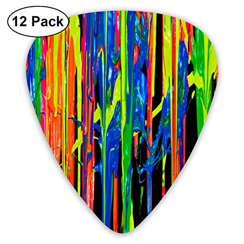 (Pigment Color Painting Art Exquisite Shell Surface Guitar Pick-12 Pieces of Packaging General Purpose)