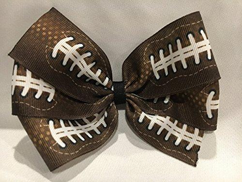 Football Hair Bow, Football Hair Accessories, Football Hair Clip (Bow Football Girls)