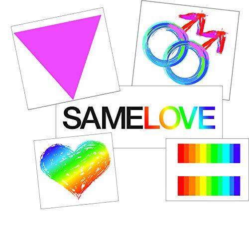 Temporary Tattoo Gay Pride Set for Men - Boyfriend Tattoo Gift - Semi-Permanent Tattoo Set - Gay Pride Accessory - Set of 10 Temporary Tattoos - 50% BULK Discount (Best Best Friend Tattoos)