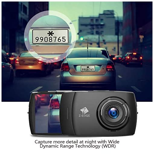 Z-Edge Car Dual Dash Cam, 4 inch Full HD Touchscreen, 1440P Front and 1080P Rear Camera Video Recorder, 155° Wide Angle… Car and Vehicle Electronics [tag]