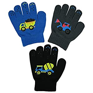 N'Ice Caps Boys Girls Magic Stretch Gloves 3 Pair Pack Assortment