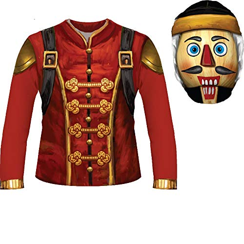 Fortnite Inspired Child Sublimated Costume Shirt & Hood - Crackshot - Medium