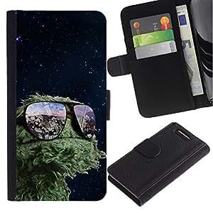 NEECELL GIFT forCITY // Billetera de cuero Caso Cubierta de protección Carcasa / Leather Wallet Case for Sony Xperia Z3 Compact // Espacio divertido Muppet