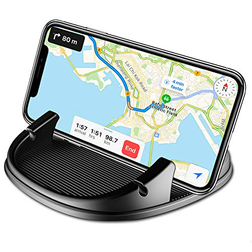 Car Phone Mount Holder,Non-Slip Silicone Pad Dash Mat Phone Holder Car GPS Cradle Dock Dashboard with Cable Slot Design for iPhone,Samsung Galaxy,Google Nexus and Other Cell Phones or GPS EREACH 2018 Newest