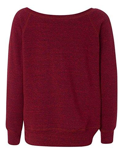 Coast Fleece Sweatshirt - Bella womens Sponge Fleece Wide Neck Sweatshirt(7501)-CARDINAL TRBIBLD-L