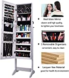 AOOU Jewelry organizer with Mirror Full