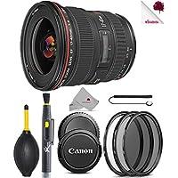Canon EF 17-40mm f/4L USM Lens Black (8806A002) USA - Full Accessory Basic Lens Bundle Package Deal