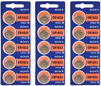 15pcs SONY CR1632 3v Lithium Coin Cell Battery BR1632 DL1632
