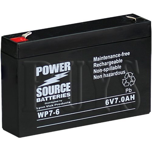 Power Source WP7-6 SLA Battery