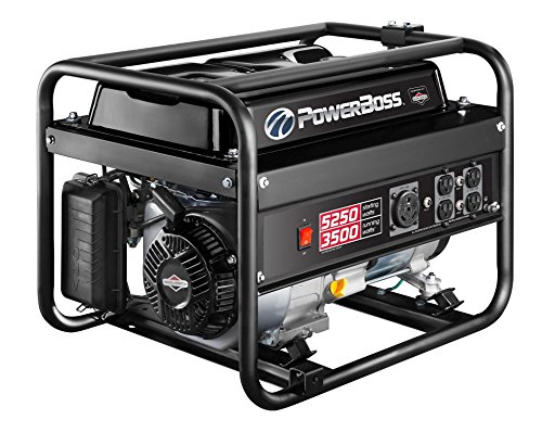 PowerBoss 30667, 3500 Running Watts/5250 Starting Watts, Gas Powered Portable Generator (Power Boss Portable Generator)