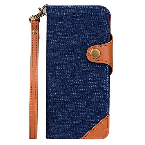 ung Galaxy S8,Slim 2 in 1 PU Leather Flip Protective Cover with Card Slots for S8 Plus (Blue, Samsung Galaxy S8) ()