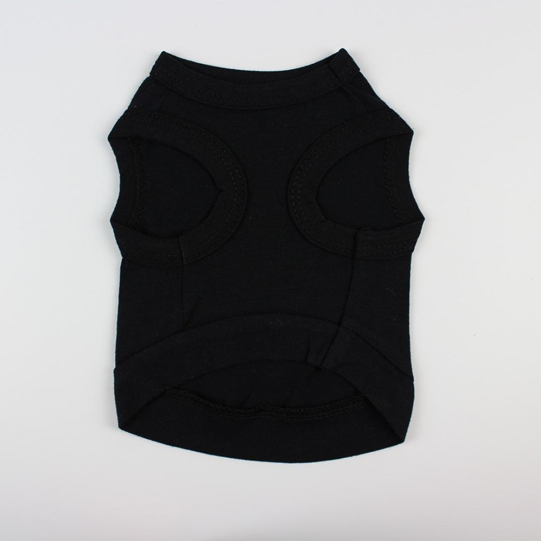 SunGren Ropa de perro, chaleco de verano mascota de algodón puro camiseta traje de perrito para perros pequeños(M,Negro): Amazon.es: Productos para mascotas