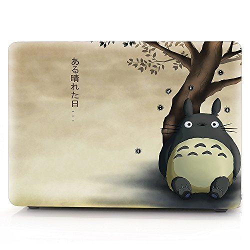 Laptop Case Animal Duck Pattern Plastic Case Hard Shell Case for MacBook Pro 13-inch with Retina Display Model A1425/A1502 with Keyboard Skin Cover and Screen Protector (Totoro 17)