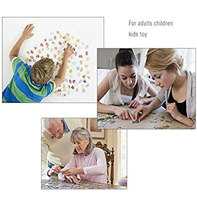 Li Ping 1000 Piece Large Landscape Jigsaw Puzzle-Adult Children Intellective Educational Puzzle Toy(70x50cm) (White): Toys & Games