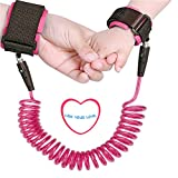 Baby Anti lost Wrist Link 2.5m Toddlers Safety Harness Leash Child Tether Velcro Band Kids Straps Rope for Children Babies with Parents (98 inch)