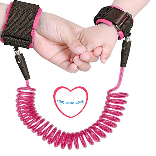 Baby Anti lost Wrist Link 2.5m Toddlers Safety Harness Leash Child Tether Velcro Band Kids Straps Rope for Children Babies with Parents (98 (Wrist Tether)