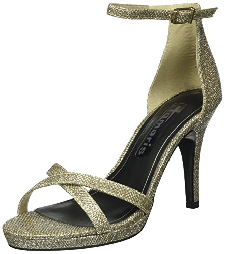 Bout Tamaris Argent Sandales gold Ouvert Glam Femme 944 28303 nwxRz6n