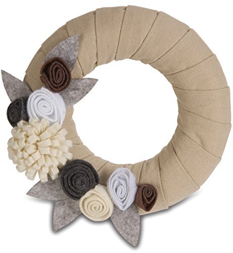 Pavilion-Gift-89001-Signs-of-Happiness-Rustic-Neutral-Wreath-6-Inch