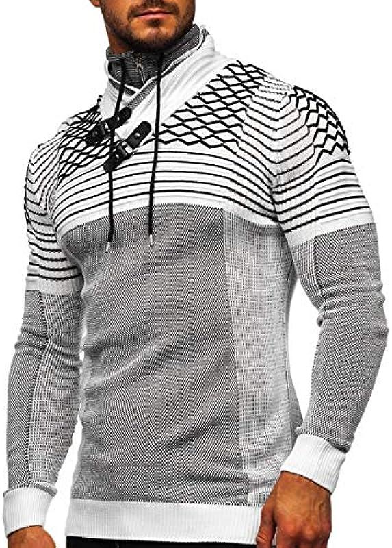 BOLF męski sweter norweski sweter zimowy gruby dzianina wzorzysty styl casual 5E5: Odzież