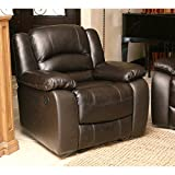 Wellington Reclining Armchair, Covered with Brown Premium Top-grain Leather