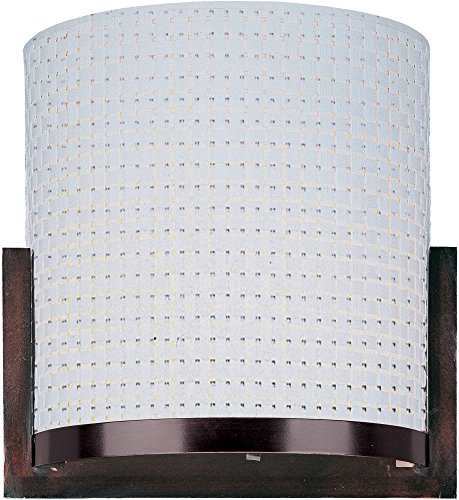 ET2 E95080-100OI Elements 1-Light Wall Sconce, Oil Rubbed Bronze Finish, Glass, G9 Xenon Bulb, 60W Max., Dry Safety Rated, 3000K Color Temp., Standard Triac/Lutron or Leviton Dimmable, Glass Shade Material, - Oil 100oi Elements
