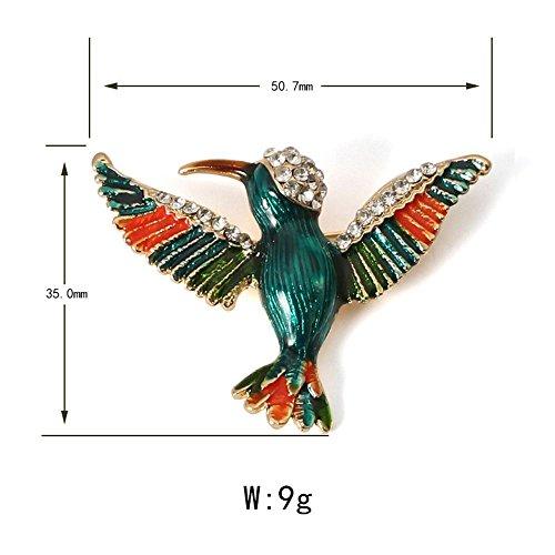 - New Pin Wedding Shoulder Scarf Dresses Clip Cute Crystal Enamel Bird Brooch Pins