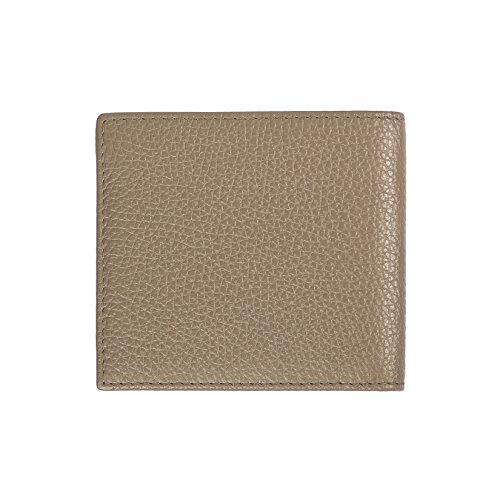 Trussardi Mann-Mappe in der echten Dollar Leder, 100% Calf - 10,5x9,5x1,2 Cm Beige