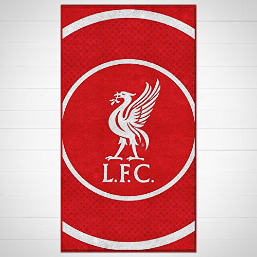 100% Official Football Club Team Strip Towels Beach Bath Gym Swim Licensed One Size Red (Liverpool Beach Towel)