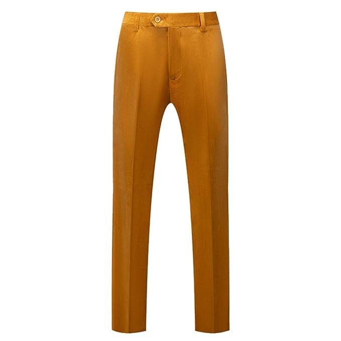 Pantalones para Hombre Pantalones de Traje Moda Comodo ...
