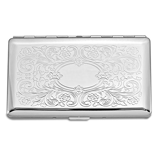 Top 10 Jewelry Gift Silver-tone (Holds 10-120mm) Cigarette/Card Case w/ (Cigarette Money Card Case)
