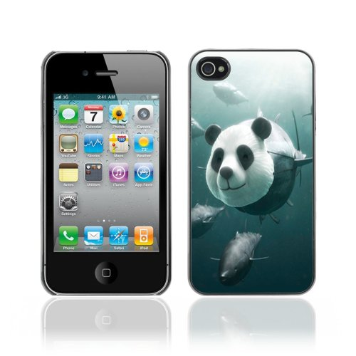 Designer Depo Hard Protection Case for Apple iPhone 4 4S / Panda Tuna