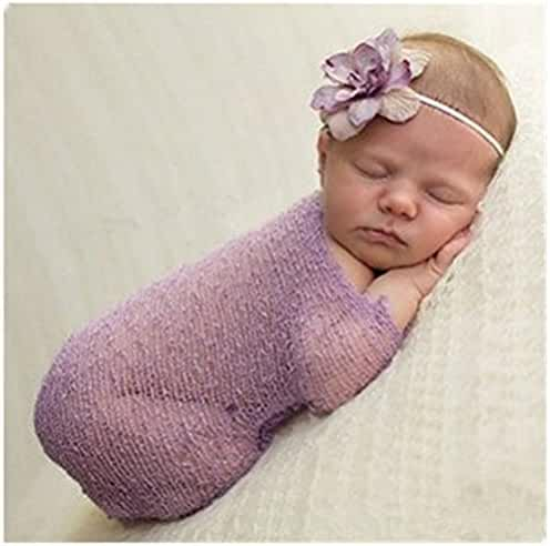 Luxury Stretch Newborn Boy Girl Baby Photography Props Wrap Yarn Cloth Blanket