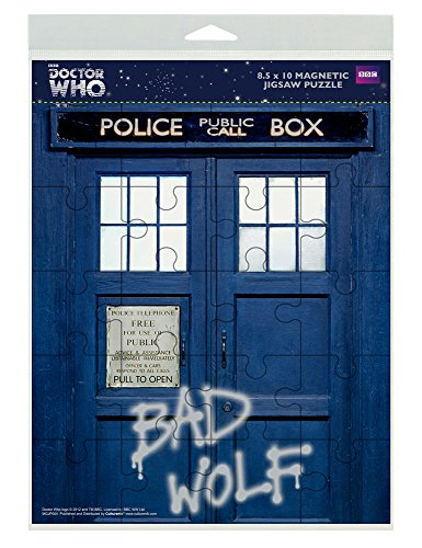 Cult Classics Jigsaw - Doctor Who Bad Wolf Graffiti TARDIS Sci Fi British TV Television Show (8.5x10 Inch) Magnetic 20-Piece Jigsaw Puzzle Magnet by Culturenik