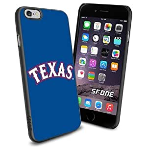 New Fashion Case MLB Texas Rangers Logo Apple Smartphone iPhone 6 4.7 inch case cover Collector TPU F2VeRUFz2Pz Soft Black case covers