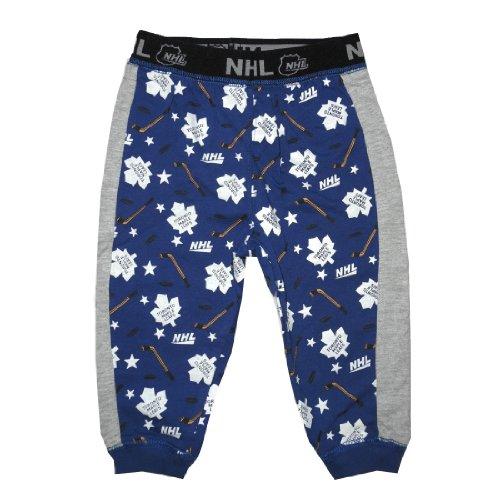 Baby / Infant NHL Toronto Maple Leafs Fall / Winter Cotton Sleepwear / Pajama Pants - Dark Blue & Grey