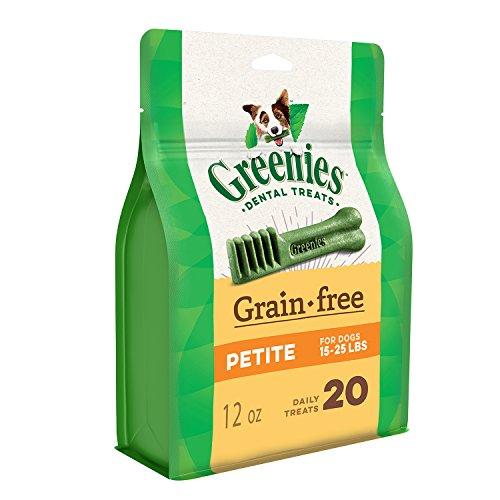 GREENIES Grain Free Dental Dog Treats, Petite, 20 Treats, 12 oz.