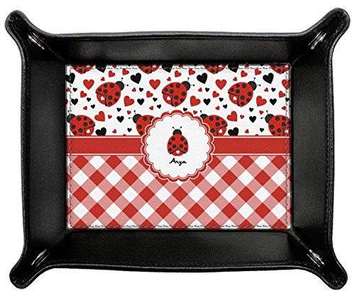 Ladybugs & Gingham Genuine Leather Valet Tray (Personalized) by RNK Shops