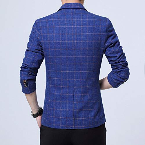 Veste Blazer Fit Jacket Bleu De Costume Homme Bouton Business Un Slim Manteau UEOqIwxZ