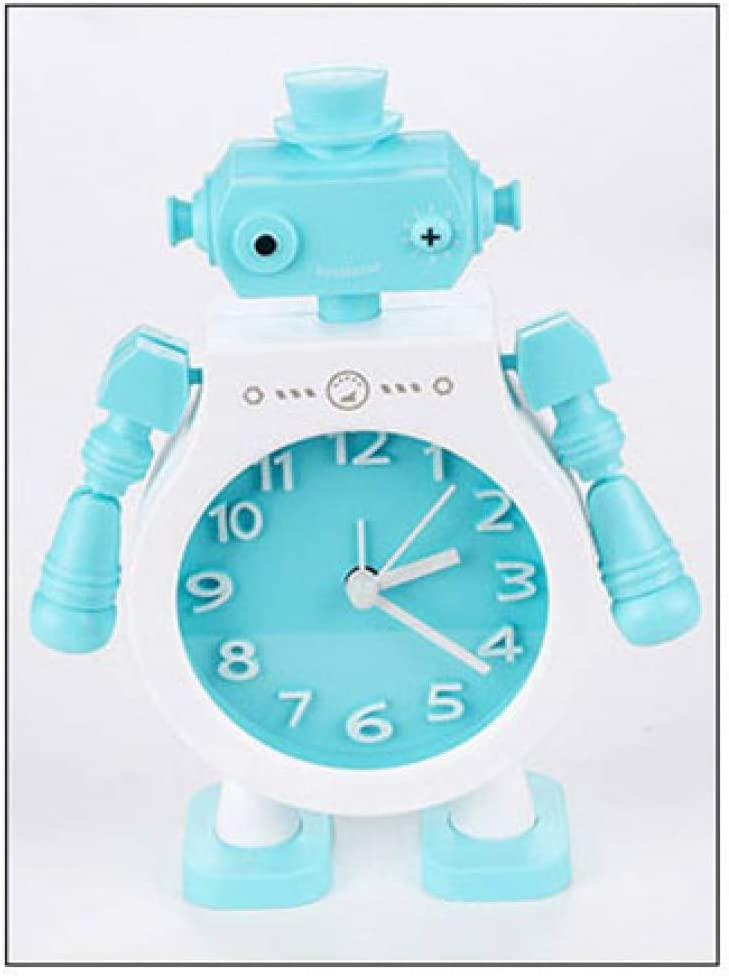 Grea Creative Pair Robot Alarm Clock Cute Children S Bedroom Decor Alarm Clock Quartz Table Wake Up Alarm Clock Amazon De Kuche Haushalt
