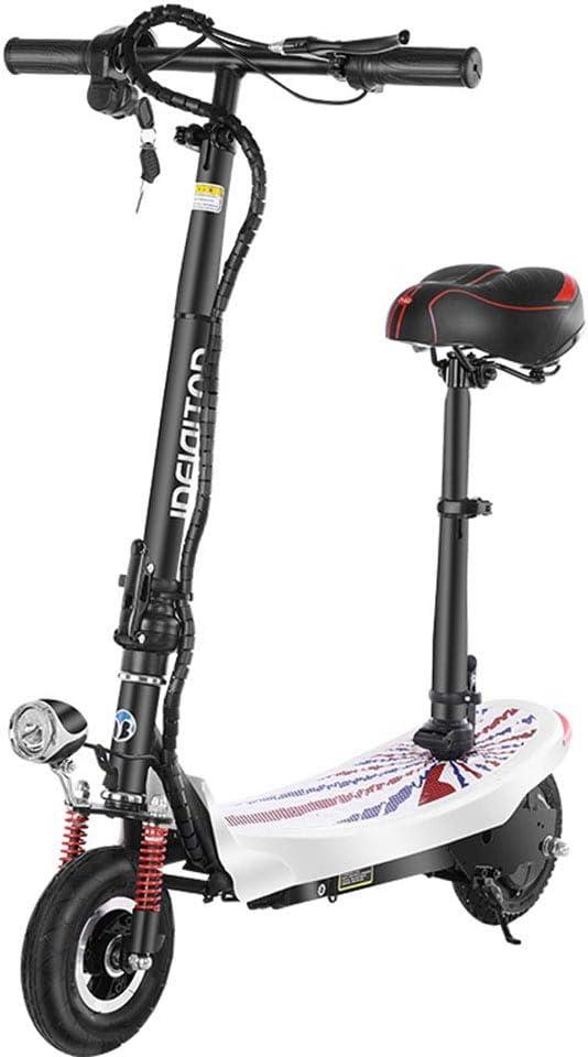 Bicicleta Monopatín Eléctrica,Bicicleta con Motor Sin Escobillas 350 W Batería De Litio 24 V Freno Electrónico Resistencia 10-20 Km